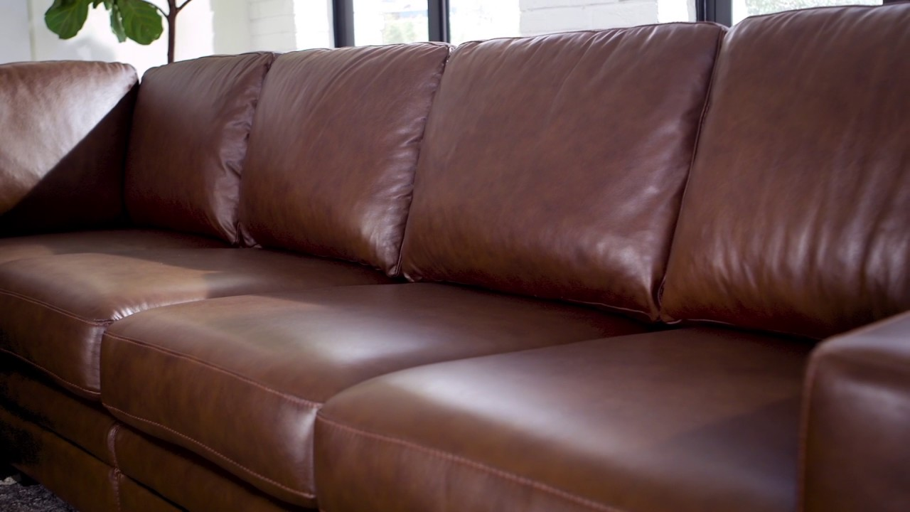 Mateo 4-piece Leather Sectional : 4 piece leather sectional sofa - Sectionals, Sofas & Couches