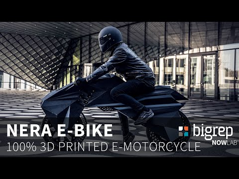 This electric motorcycle runs on 15 parts made via 3D printer
