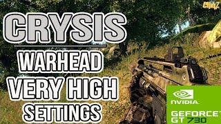 Crysis Warhead Very High Settings Benchmark Gameplay On GT 730 | Nvidia gt 730