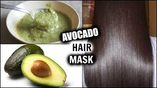 AVOCADO HAIR MASK DIY FOR LONG THICK, SHINY HAIR │ HOMEMADE Dry Damaged Hair Treatment + RESULTS