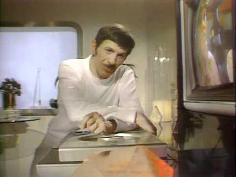 Leonard Nimoy demonstrates Magnavision LaserDisc Player