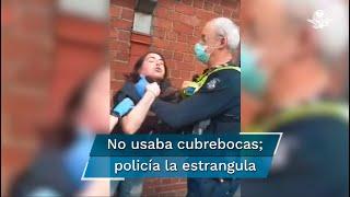 El video ha desatado indignación en redes sociales por la violencia policial ejercida sobre la joven