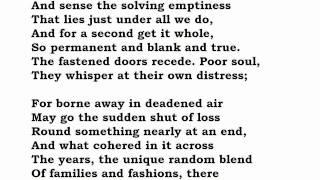 """""""Ambulances"""" by Philip Larkin (read by Tom O"""