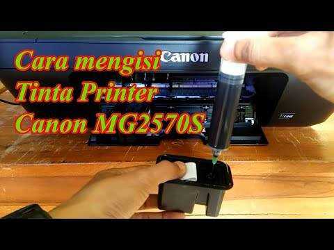 Tutorial isi ulang tinta warna - printer Canon ip2770.