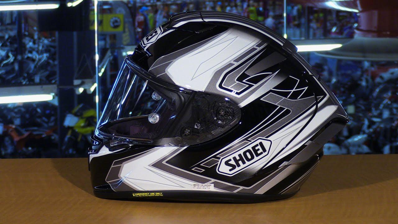Full Motorcycle Helmet >> Shoei X-Fourteen Assail Full Face Motorcycle Helmet Review - YouTube