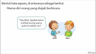 Kata Sapaan Materi Ajar Kelas Ii Sd Tema 7 Subtema 1 4 Youtube