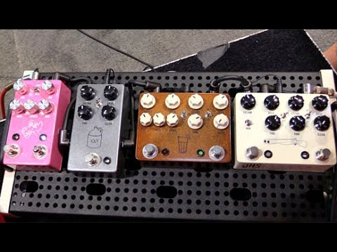 SNAMM '17 - JHS Pedals Pink Panther Delay, Moonshine Overdrive, Sweet Tea, and Double Barrel Demos