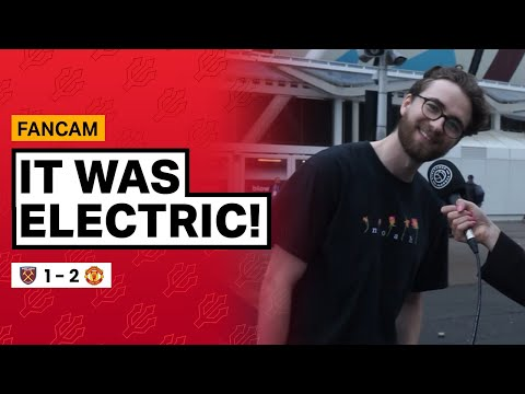 It was ELECTRIC!   West Ham 1-2 Manchester United   Fancam