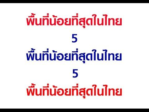 5 จังหวัดที่มีพื้นที่เล็กที่สุดของประเทศไทย