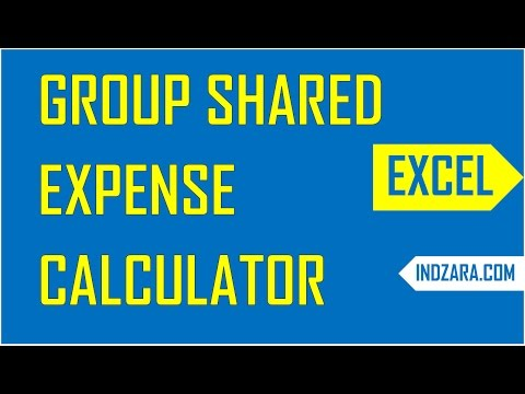 Group Shared Expense Calculator - Free Excel Template - Demo