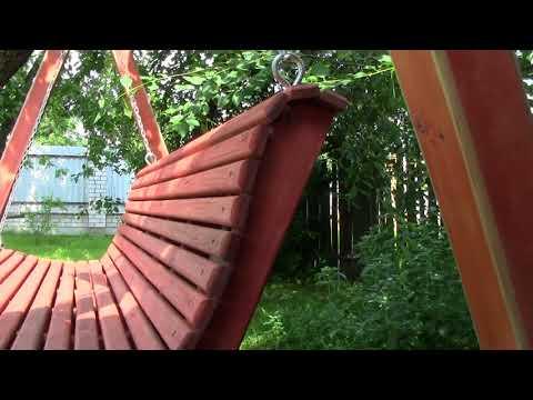 Как сделать садовые качели своими руками видео и фото
