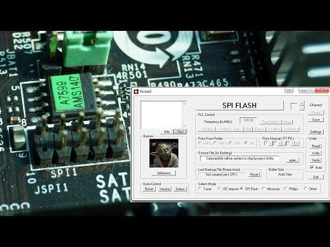 Прошивка Bios через JSPI1 на материнской плате. Firmware Bios With JSPI1