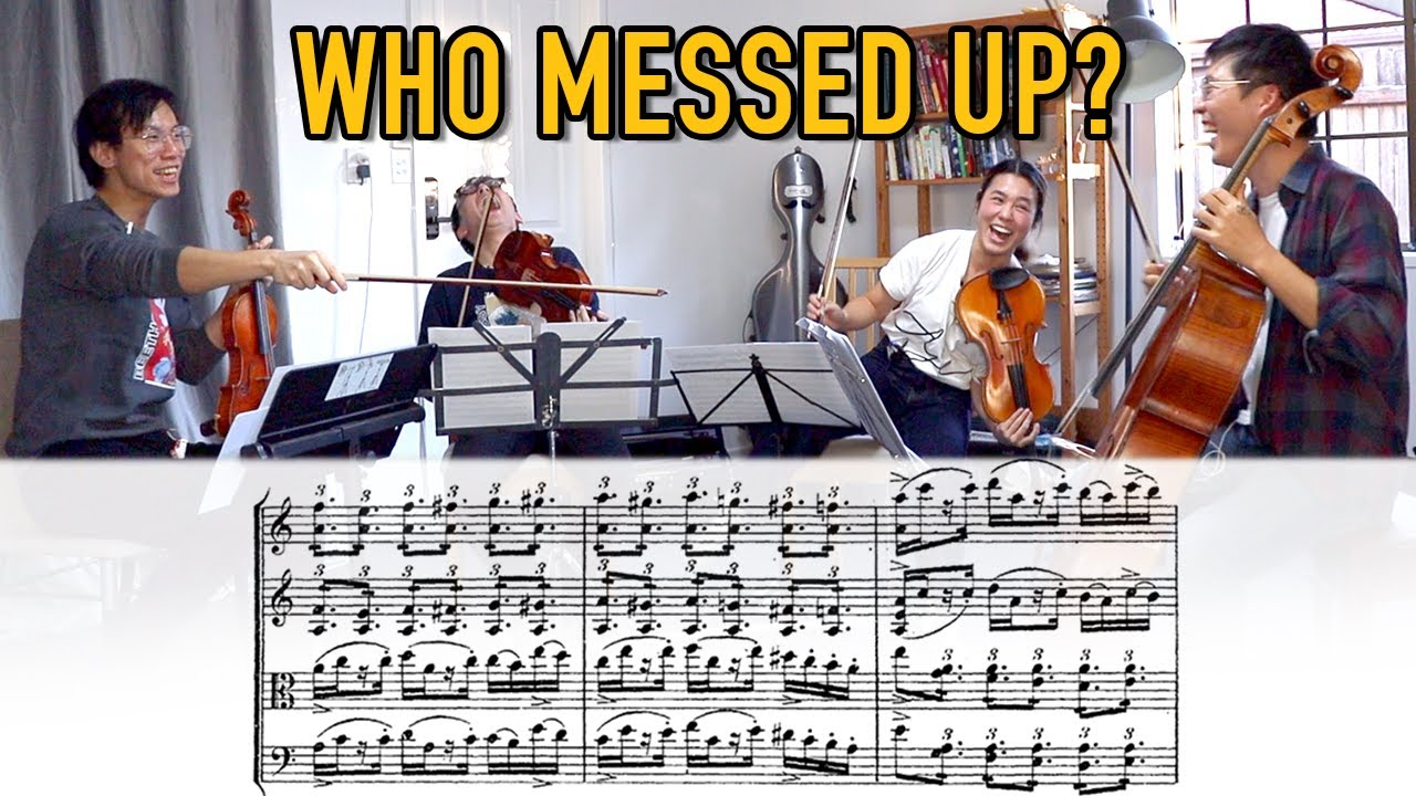 5 Levels of String Quartet Sightreading