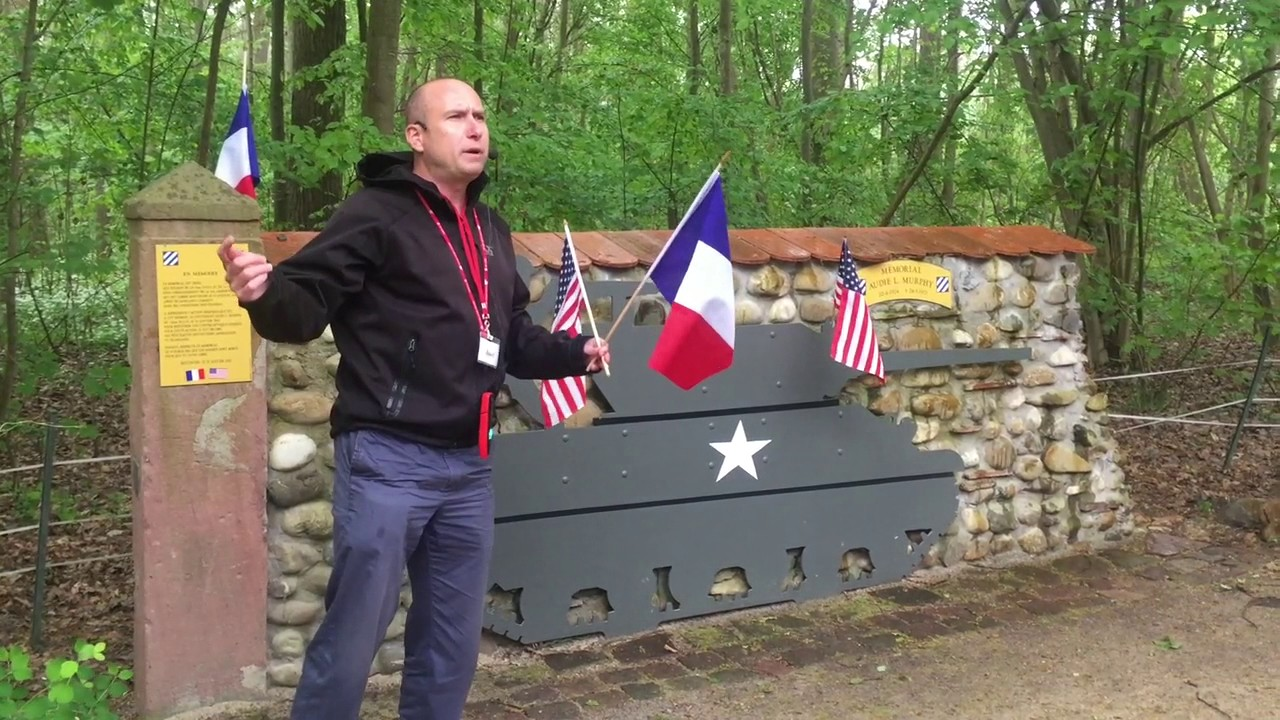 Josef At Audie Murphy Memorial Near Holtzwihr France
