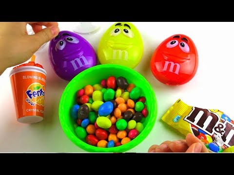 Crazy M&M's amuse Kids with Finger Family song\ educational video for children