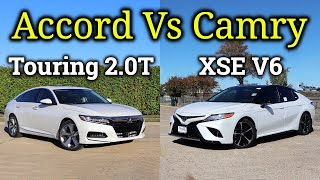 HONDA or TOYOTA?: 2020 Toyota Camry XSE V6 vs 2020 Honda Accord Touring 2.0T | Fully Loaded!