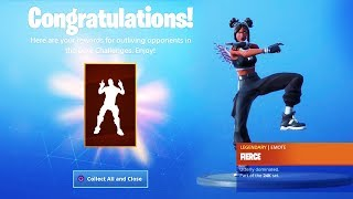 "The New LUXE ""FIERCE"" EMOTE in Fortnite.. (Tier 100 Emote Luxe Challenges)"