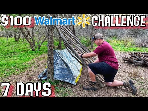Into the Wild Day 1 of 7 Day $100 Walmart Survival Challenge