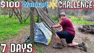 7 Day $100 Walmart Survival Challenge - Day 1 - Into the Wild
