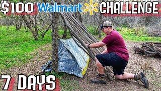 7 Day $100 Walmart Survival Challenge   Day 1   Into The Wild