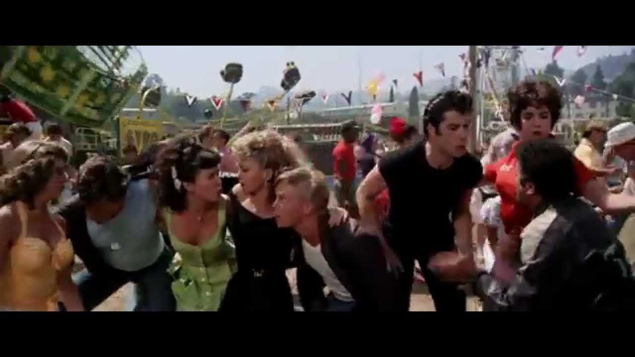 Grease 1978 We Go Together Youtube
