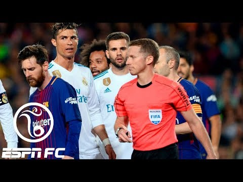 Did Lionel Messi intimidate El Clásico's referee in Barcelona's 2-2 draw with Real Madrid?   ESPN FC