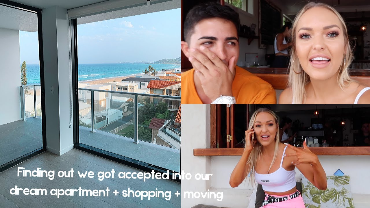 MOVING SERIES PART 1 || finding out we got accepted into our dream apartment + shopping