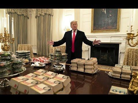 Donald Trump Serves McDonald's On  Silver Platters As White House Chefs Go Unpaid Amid Shutdown