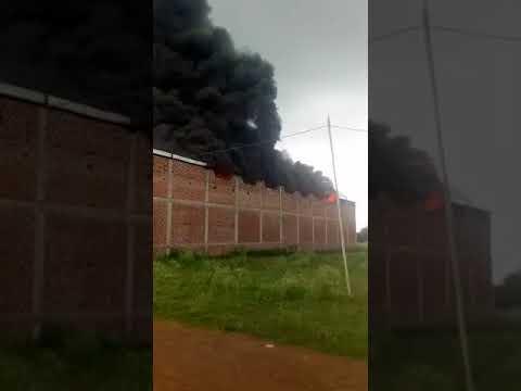 Fire In Cotton Factory In Bhopal