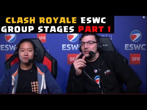 Clash Royale at ESWC  Live: Group Stages Part 1 (full video)