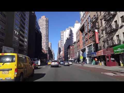 Driving by Lenox Hill Manhattan,New York