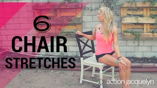 Gentle Chair Yoga Routine - 6 Chair Stretches to Increase Your Energy at Work