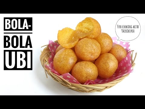 RESEP Bola-bola Ubi * Sweet Potato Balls (Indonesian Street Food)