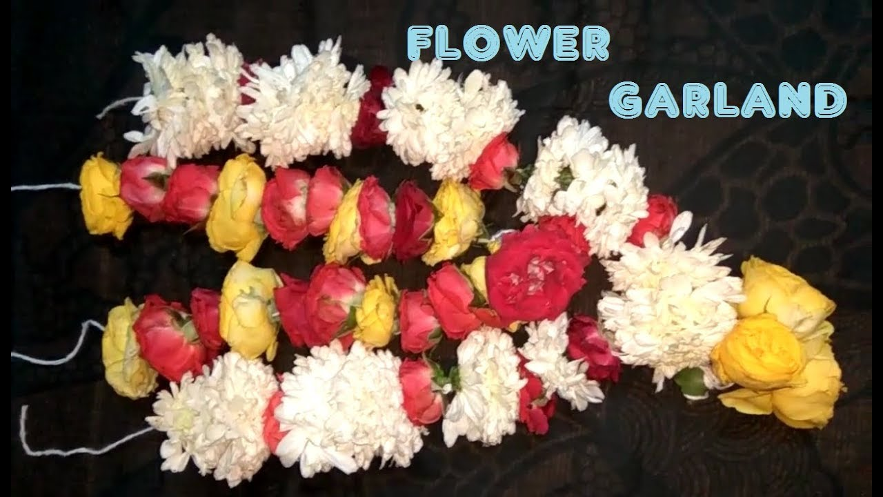 Easy Garland Making With Fresh Flower Youtube