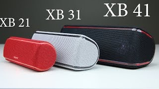 Sony SRS XB41, XB31 & XB21 First Impressions and Unboxing