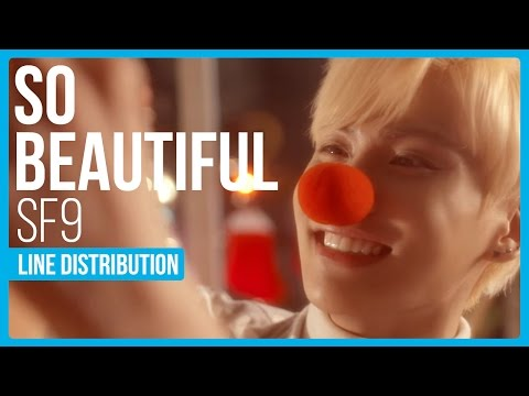 SF9 - So Beautiful Line Distribution (Color Coded) | KPOP Christmas Countdown