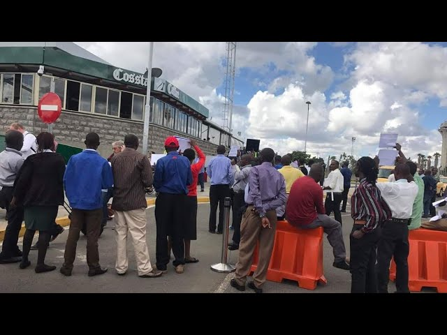 Drama and confusion at JKIA as Government Implements Directive on physical distance on passengers.