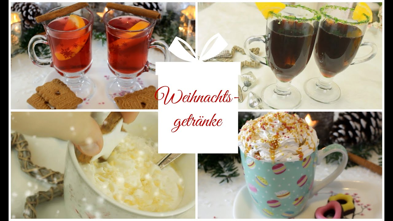 Weihnachtsgetränke: Weihnachtstee, Weiße Mandelmilch, vegane Schoko ...