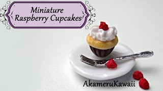 Miniature Raspberry Cupcakes - Polymer Clay Tutorial