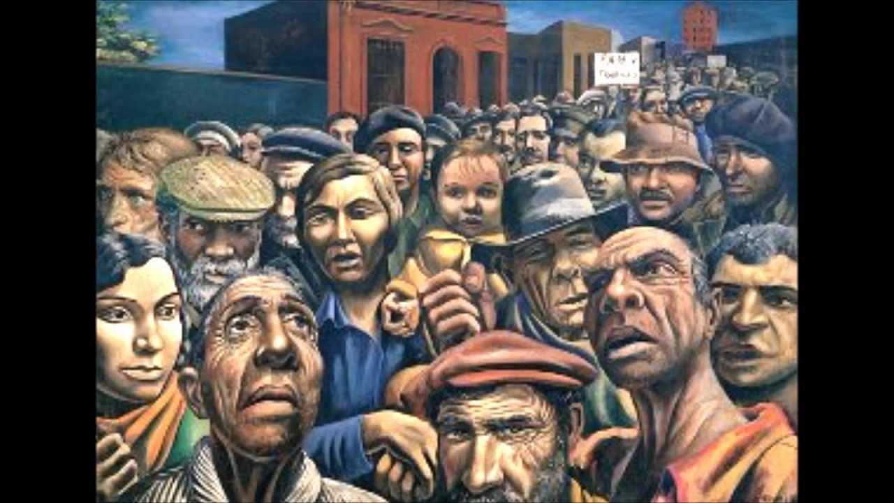 Image gallery realismo artistico for Mural de la casa del migrante analyse