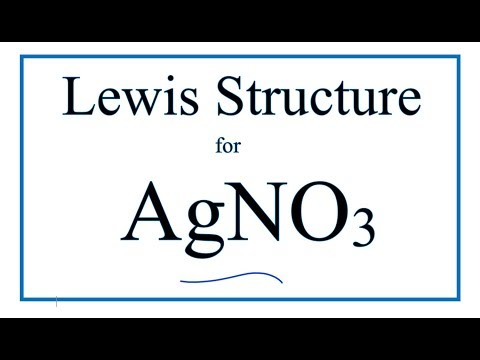 How To Draw The Lewis Dot Structure For Agno3 Silver I Nitrate Youtube