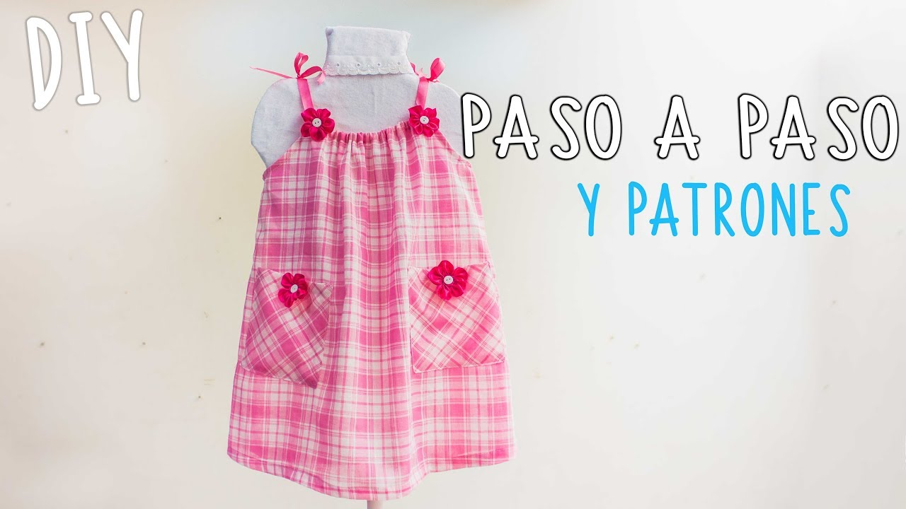 0fcb3d602 Vestido para niña, facil y con patrones /Easy dress for girls, free ...
