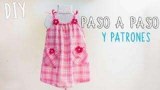 Vestido para niña, facil y con patrones /Easy dress for girls, free patterns.