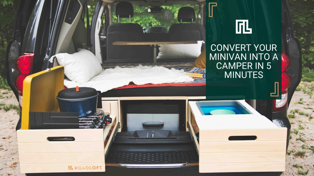 Transform your minivan into a camper in 5 minutes