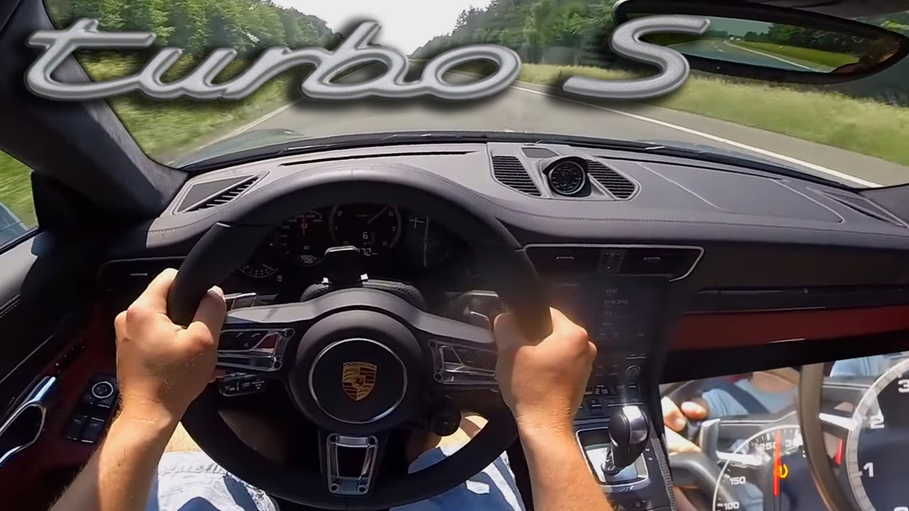 porsche 911 turbo s 2017 acceleration autobahn 295 kmh pov 991 mk2 turbo s youtube