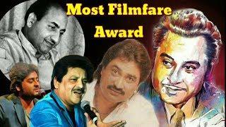 Most Filmfare Award Winner Male Singer's In Bollywood History