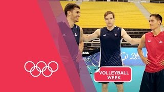 Volleyball Serving Challenge with USA Men