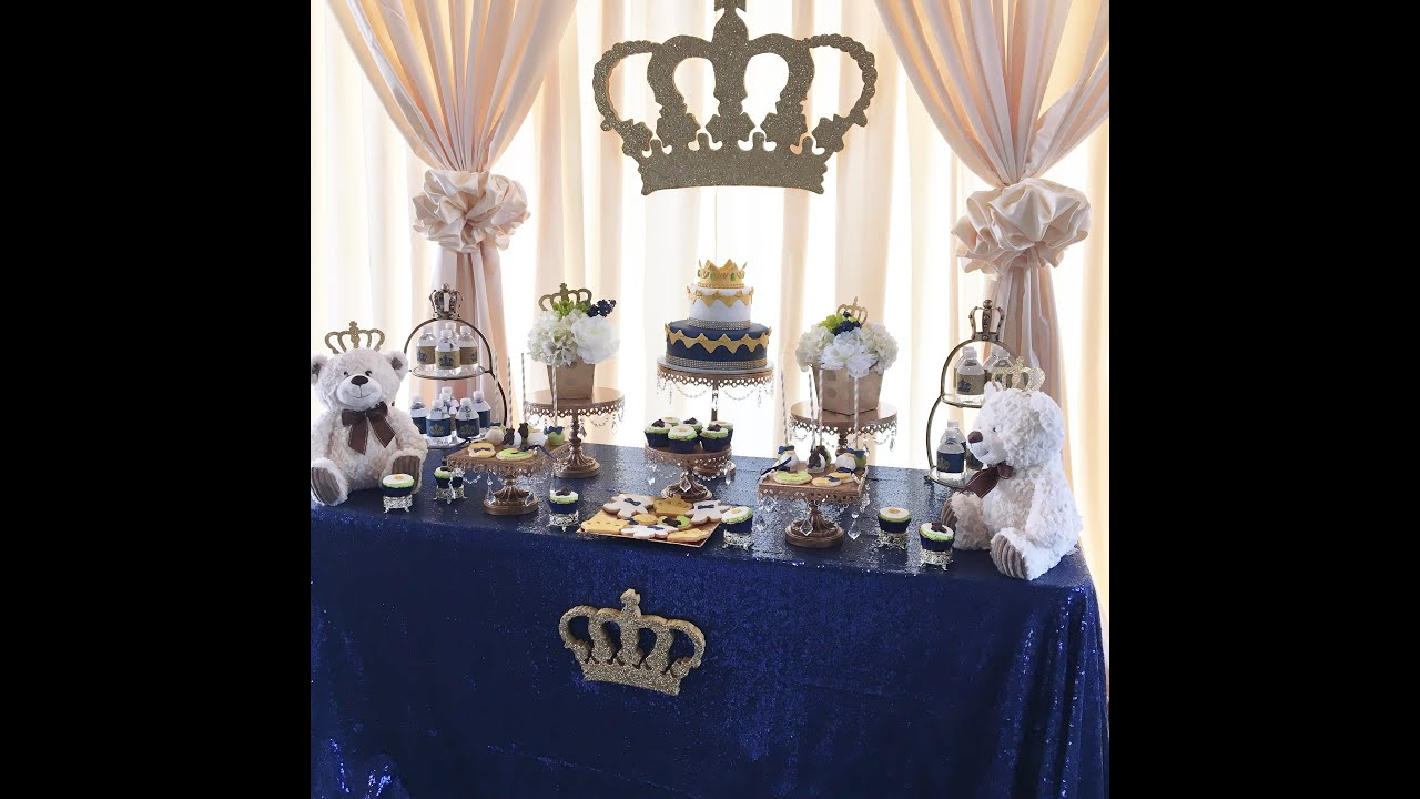 a royal prince or king themed baby shower youtube. Black Bedroom Furniture Sets. Home Design Ideas