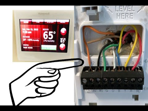 how to wire honeywell 9000 wifi touchscreen thermostat