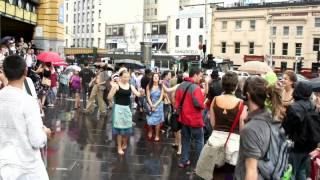 Dont Walk Dance - Portable Dance Portal - Flinders Street, Melbourne